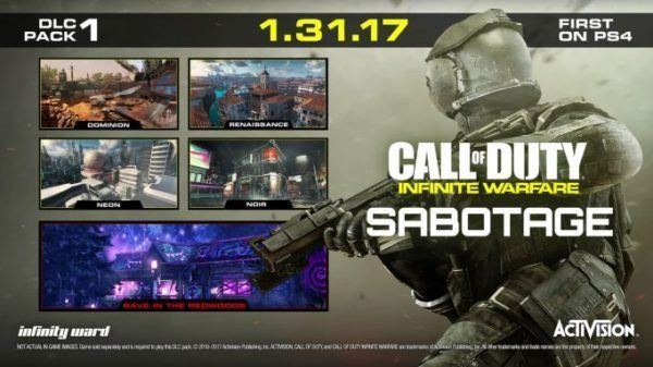 Descargable 1º Infinite Warfare: Sabotage ya disponible PS4